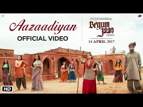 Aazaadiyan Lyrics - Begum Jaan